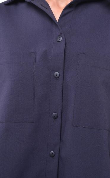 4505-0  Блуза оверсайз черная