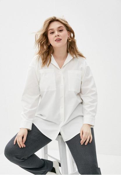 4505 Блуза белая оверсайз