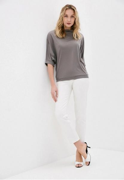 4507-7 Блуза летучая  мышь, серый