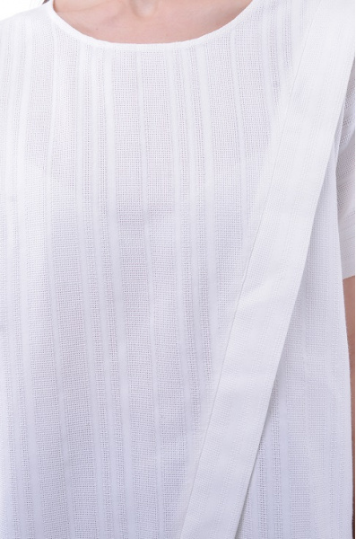 4508 Блузка белая на запах