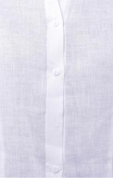 Блуза 4513 льняная белая