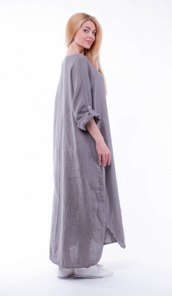 5383-6 Платье льняное (посольское)