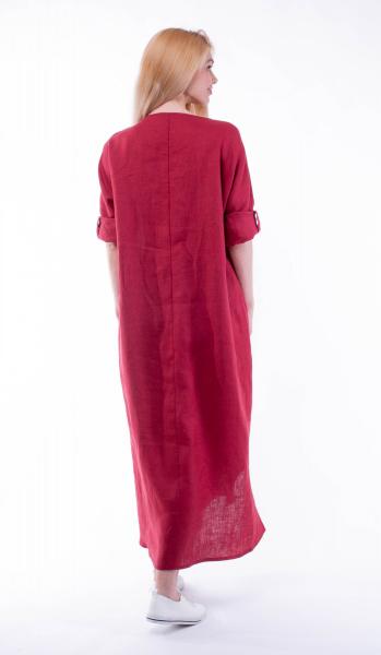 5383-9 Платье льняное (посольское)