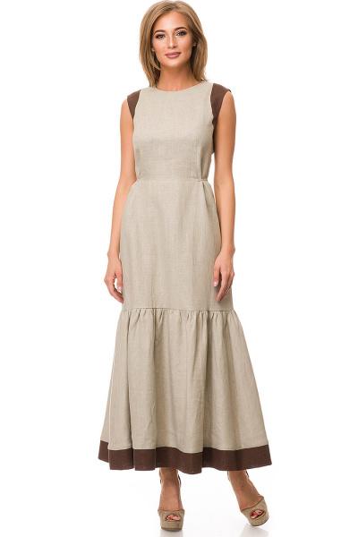 Льняные платья оптом 5319
